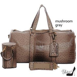 My Bag Lady Online Bags - Ostrich & Alligator Duffel Bag Set